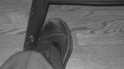 My left foot.