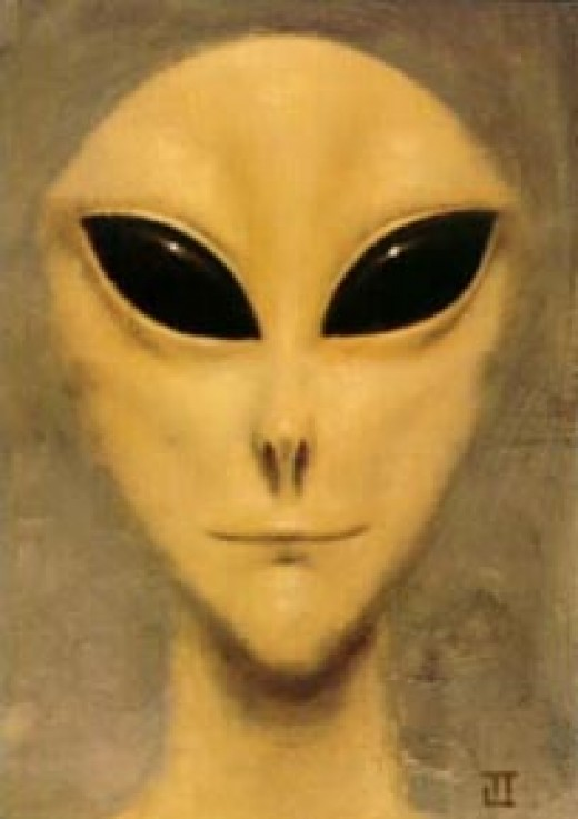 Referenced in book but no longer on the cover this is the alien from the original cover.