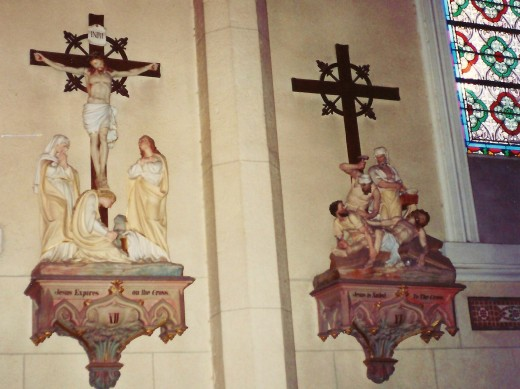 Stations of the Cross inside the Loretto Chapel