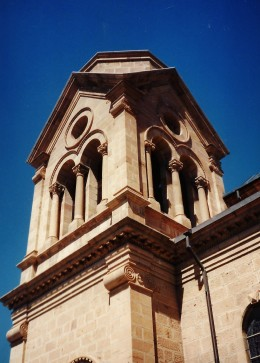 Close-up photo of portion of the St. Francis Cathedral