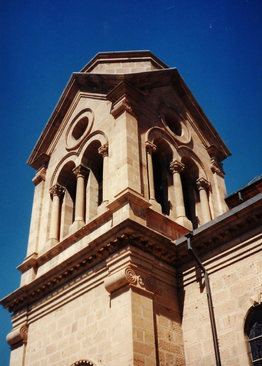 Closeup photo of portion of the St. Francis Cathedral