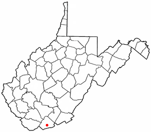 Map location of Princeton, West Virginia