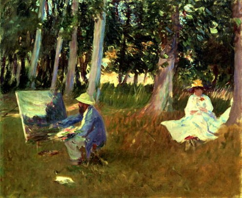 Sargent, John Singer- Monet Painting at the Edge of a Wood. The portrait was painted in the spring of 1888 at Giverny