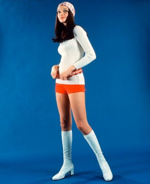 1970's women's hot pants.