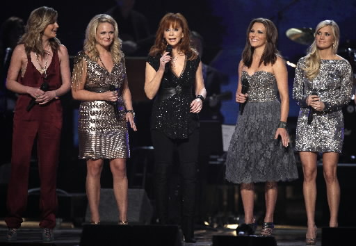 Jennifer Nettles, Miranda Lambert, Reba McEntire, Martina McBride and Carrie Underwood.