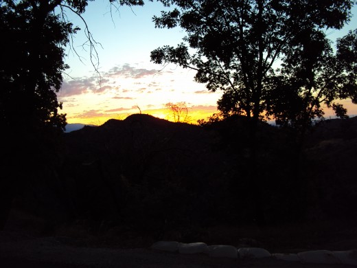 Part of Mount Baldy can be seen on the far left-hand side of this San Bernardino Mountains sunset photograph.