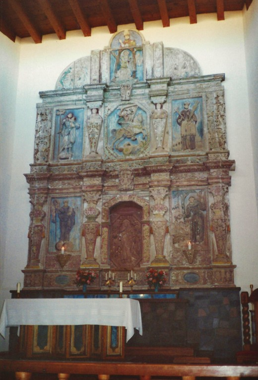 Altar inside Cristo Rey Church