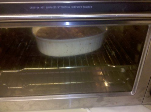 Dixie Dumpling Pudding, in the oven. Recipe on eBay