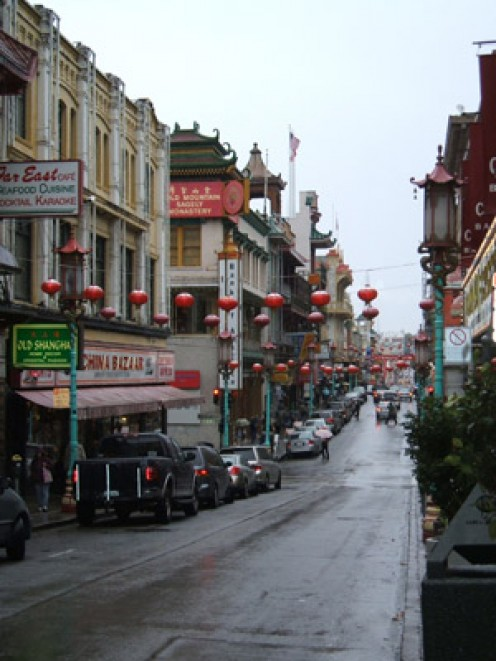 San Francisco Chinatown.  Stay with locals to save money and make new friends.