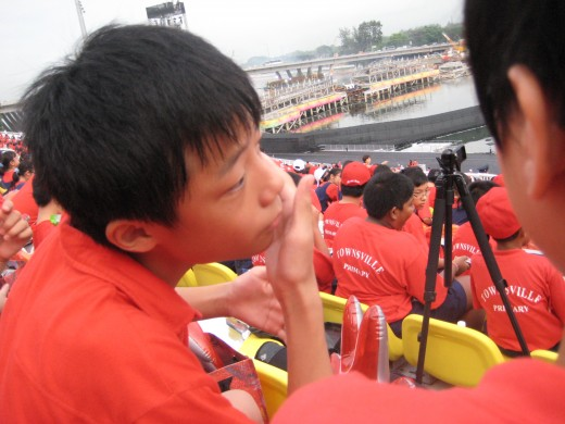 Children attending Public Event