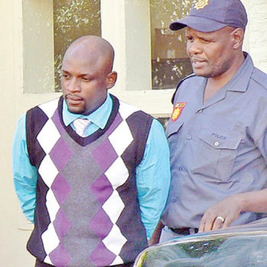 "Irvin Shirindzi, TVI Express ""owner"" was lead away in handcuffs by South African police for running a pyramid scheme, 14-APR-2011"