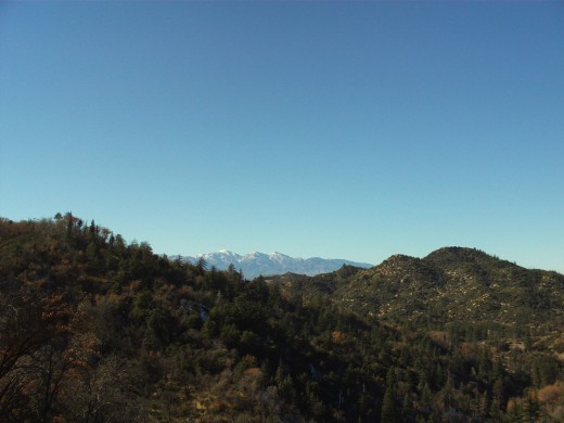 I love to take pictures of the view of Mount Baldy, as seen from the San Bernardino Mountains.