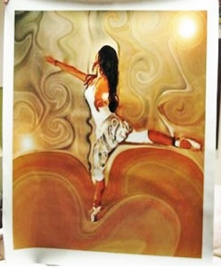 The Ballerina on Giclee-A commissioned work