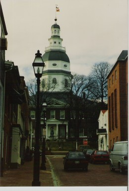 The oldest state capitol building still in use, Annapolis, Maryland.