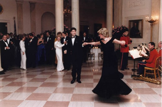 Princess Diana dances with John Travolta