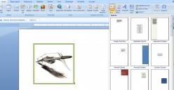 This shows the Text Box style choices that you have when adding a text box to your Word document.