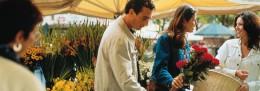 Buying flowers in the Graz market