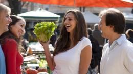 Buying veggies in the market