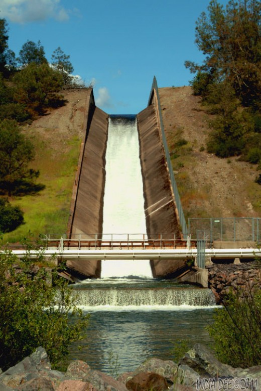 Con Dam Spillway - Rutherford, Ca.