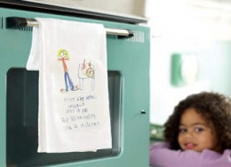 Dish Towel with Printed Recipe source crafts caboose