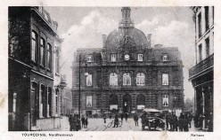 German postcard, dated 27.2.1918: Tourcoing's City Hall