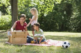 Enjoy a picnic in the park.