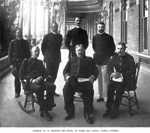 Generals at the Tampa Bay Hotel in 1898
