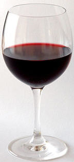 Red wine picture courtesy of Wikipedia Commons
