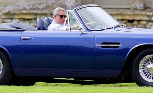 The convertible Aston Martin Volante DB6 MKII in Seychelles blue is owned by HRH The Prince of Wales. The Prince has owned the car since 1969.