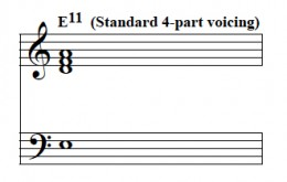 Standard dominant 11th voicing.