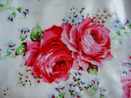 Roses from a Cath Kidston bag