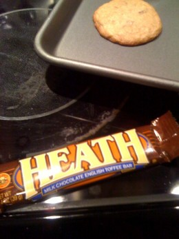Heath bars work in Ben & Jerry's ice cream. The toffee works smashingly in cookies, too!
