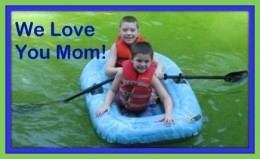 Nicholas and Jacob Wishing their mom, Michelle, A Happy Mothers Day