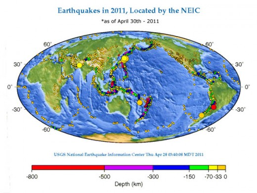 Earthquake Information for 2011