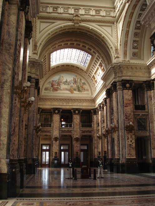 Interior of the Legislative Palace, Montevideo, Uruguay