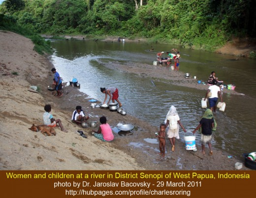River is an integral part of village life in District Senopi of West Papua, Indonesia.