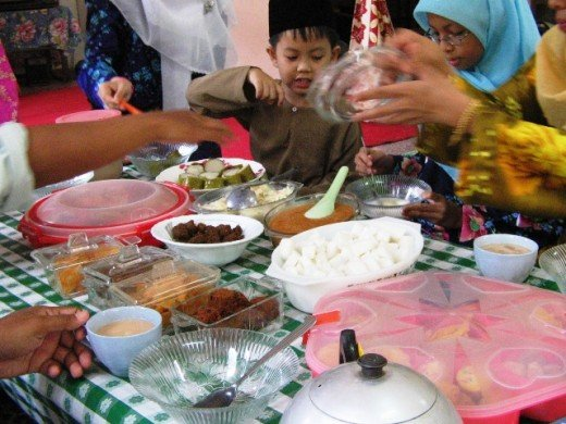 Eid ul-Fitr Meal, Malaysia. For Muslims, Eid ul-Fitr is the joyous celebration that follows the fasting and penitence of Ramadan.