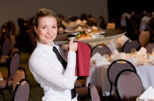 Restaurants and catering companies offer a schedule that can be suitable for student life.