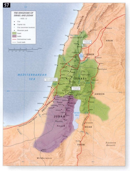 Map of Ancient Israel and Judah