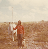 My first horse and Charlie my unbelievable dog
