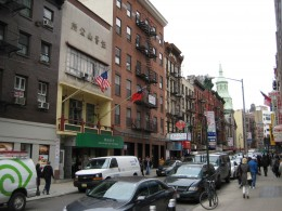 Mott Street in Chinatown NYC early 2011