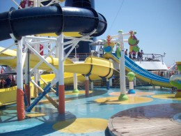 Our Carnival Ship's Onboard Waterpark