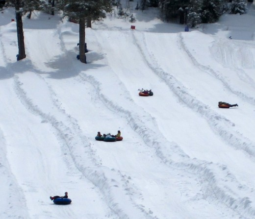 Gorgoza Park tubing hill in Park City, Utah.