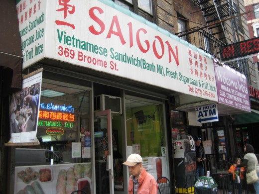 Saigon Restaurant - 359 Broome Street on the corner of Mott Street