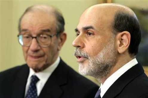 Alan Greenspan, Ben Bernanke, Federal Reserve Board chairmen