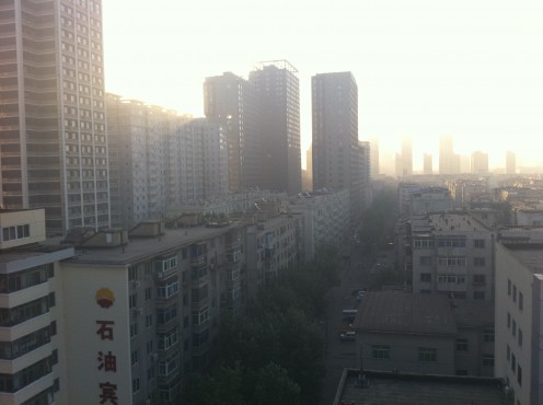 This is a typical view in Shenyang.  Many of the buildings look like this, and though Shenyang is one of the largest cities in China, it's still developing and visitors can really feel that they are in a place that only recently began to modernize...