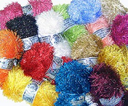 Eyelash yarn is used in many easy knitting patterns and also to add