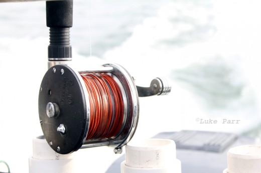 Lead core line on a reel