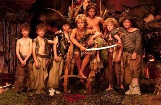 Me and my Lost Boys (I'm Peter - yes, I know Peter's a boy, but it's my game, so I can be who I like!)