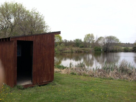 Bird Blind Hut at Norristown Farm Park in Norristown, PA  (Montgomery County)